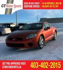 Used 2007 Mitsubishi Eclipse GS  $0 DOWN - EVERYONE APPROVED for sale in Calgary, AB