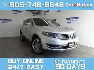 Used 2016 Lincoln MKX RESERVE | AWD | ROOF | NAV | DRIVER ASSIST PKG for sale in Brantford, ON