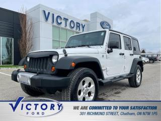 Used 2013 Jeep Wrangler Unlimited Sahara| HEATED SEATS| NAV| HARD TOP for sale in Chatham, ON