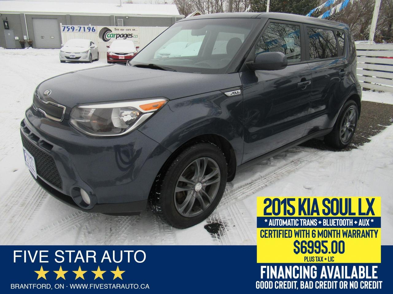 2015 Kia Soul LX - Certified w/ 6 Month Warranty