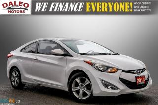 Used 2013 Hyundai Elantra Coupe GLS / POWER MOONROOF / HEATED SEATS / USB INPUT for sale in Hamilton, ON