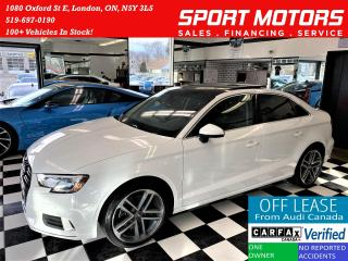 Used 2017 Audi A3 2.0T Progressiv+Camera+Roof+Xenons+ACCIDENT FREE for sale in London, ON