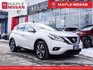 Used 2017 Nissan Murano Plat  AWD  Navi Moonroof Leather Remote Start for sale in Maple, ON