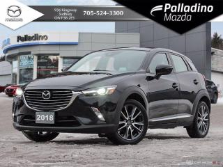 Used 2018 Mazda CX-3 GT - ONE OWNER - NO ACCIDENTS - DEALER SERVICED for sale in Sudbury, ON