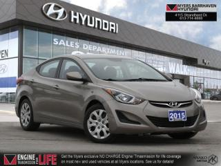 Used 2015 Hyundai Elantra GL  - Heated Seats -  Bluetooth - $76 B/W for sale in Nepean, ON
