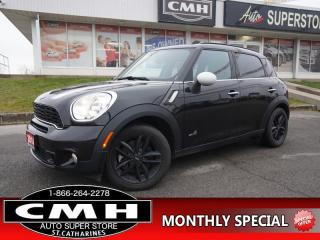 Used 2014 MINI Cooper Countryman Cooper S ALL4  ROOF LEATH HTD-SEATS 17-AL for sale in St. Catharines, ON
