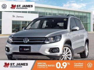 Used 2017 Volkswagen Tiguan Wolfsburg Edition, One Owner, Panoramic Sunroof, Apple CarPlay for sale in Winnipeg, MB
