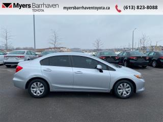 Used 2012 Honda Civic Sedan LX  - Bluetooth -  A/C for sale in Ottawa, ON