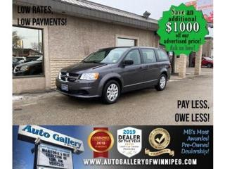 Used 2019 Dodge Grand Caravan CVP* LOW KMS/Reverse Camera/Bluetooth/REMOTE START for sale in Winnipeg, MB