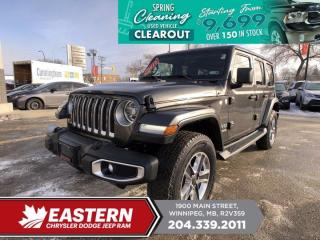 Used 2019 Jeep Wrangler Unlimited Sahara | 1 Owner | Removable Hard and Soft Top | for sale in Winnipeg, MB