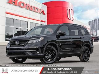 New 2021 Honda Pilot Black Edition HONDA SENSING TECHNOLOGIES | POWER TAILGATE | GPS NAVIGATION for sale in Cambridge, ON