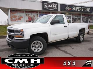 Used 2017 Chevrolet Silverado 1500 WT  4.3L 4X4 8-BOX BLUETOOTH for sale in St. Catharines, ON
