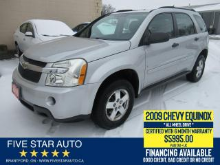 Used 2009 Chevrolet Equinox LS AWD - Certified w/ 6 Month Warranty for sale in Brantford, ON