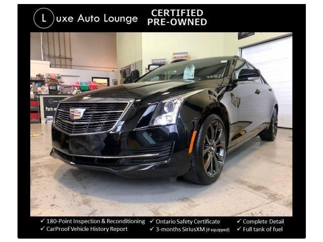 2017 Cadillac ATS Luxury AWD CARBON BLACK PKG! LOW KM, RECARO SEATS!