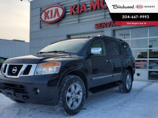 Used 2011 Nissan Armada Platinum Edition As Traded 4X4*Local Vehicle/7 Passenger* for sale in Winnipeg, MB