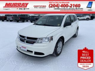 Used 2016 Dodge Journey * Pushbutton Start* * 4.3 Touchscreen* * FWD * for sale in Brandon, MB