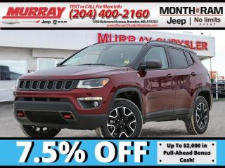 New 2021 Jeep Compass Trailhawk Elite *NAV* *Heat/Vent Seats* *Bluetooth for sale in Brandon, MB