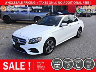 Used 2020 Mercedes-Benz E-Class E 350 4MATIC - Accident Free / Local / Nav / Leather / One Owner for sale in Richmond, BC