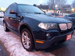 Used 2008 BMW X3 3.0Si-LEATHER-PANORAMA ROOF-BLUETOOTH-AUX-ALLOYS for sale in Scarborough, ON