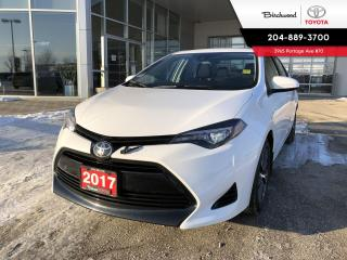 Used 2017 Toyota Corolla LE UPGRADE PACKAGE for sale in Winnipeg, MB