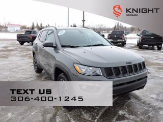 New 2021 Jeep Compass Upland Edition   B/U Camera   Customer Pref Pkg   Heated Leather Wrapped Steering for sale in Weyburn, SK