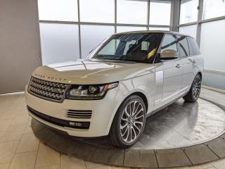 Used 2017 Land Rover Range Rover UNDER 80,000KMS - AUTOBIOGRAPHY MODEL! for sale in Edmonton, AB