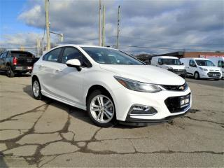 Used 2017 Chevrolet Cruze 4dr HB 1.4L LT w/1SD LOW KM SAFETY B-CAMERA B-TOOT for sale in Oakville, ON