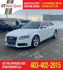 Used 2012 Audi A4 2.0T Premium | $0 DOWN - EVERYONE APPROVED! for sale in Calgary, AB