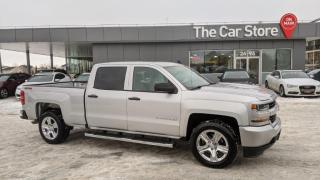 Used 2018 Chevrolet Silverado 1500 Custom CREW Rear Cam LOCAL CAR Full Fctry Warranty for sale in Winnipeg, MB