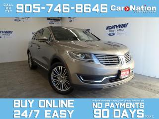 Used 2016 Lincoln MKX RESERVE | AWD | LEATHER | NAV | PANO ROOF for sale in Brantford, ON