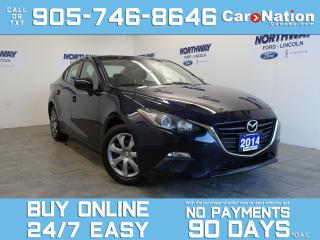 Used 2014 Mazda MAZDA3 AUTO   BLUETOOTH   A/C   OPEN SUNDAYS! for sale in Brantford, ON