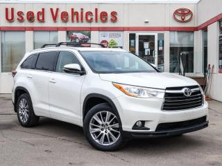 Used 2015 Toyota Highlander XLE ALLOYS SUNROOF LEATHER CAMERA NAVI 1-OWN for sale in North York, ON