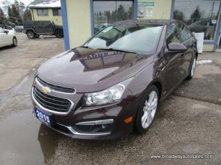 Used 2015 Chevrolet Cruze LOADED 2-LT-RS EDITION 5 PASSENGER 1.4L - TURBO.. NAVIGATION.. LEATHER.. HEATED SEATS.. POWER SUNROOF.. BACK-UP CAMERA.. BLUETOOTH SYSTEM.. for sale in Bradford, ON