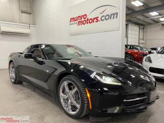 Used 2014 Chevrolet Corvette StingRay 2dr Cpe w-3LT NAV HUD MEM Glass Roof for sale in St. George, ON