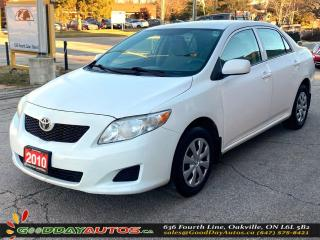 Used 2010 Toyota Corolla CE|LOW KM|NO ACCIDENT|CRUISE CONTROL|CERTIFIED for sale in Oakville, ON