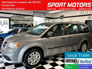 Used 2015 Dodge Grand Caravan Canada Value Package+A/C+STOW & GO+ACCIDENT FREE for sale in London, ON