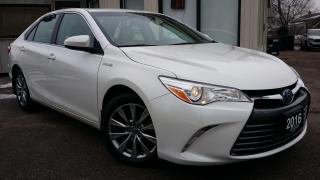 Used 2016 Toyota Camry HYBRID XLE -LEATHER! NAV! BACK-UP CAM! BSM! for sale in Kitchener, ON