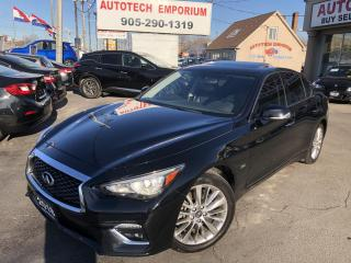 Used 2018 Infiniti Q50 Luxury AWD Heated Leather/Camera/Sunroof//BT/GPS* for sale in Mississauga, ON