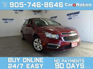 Used 2015 Chevrolet Cruze LT | TOUCHSCREEN | 6 SPEED M/T | ONLY 47 KM! for sale in Brantford, ON