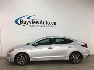 Used 2019 Hyundai Elantra Luxury - AUTO! HTD LEATHER! SUNROOF! BLINDSPOT DETECTION! 25,000KMS! for sale in Belleville, ON