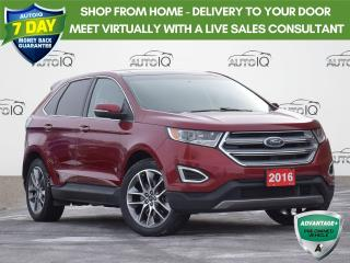 Used 2016 Ford Edge Titanium TITANIUM | HEATED & COOLED SEATS | 4WD | PANORAMIC ROOF |  LEATHER | ONE OWNER | for sale in Waterloo, ON