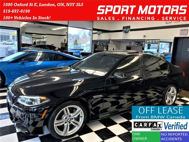 2016 BMW 5 Series 535i xDrive TECH+New Tires+360 CAM+ACCIDENT FREE