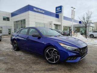 New 2021 Hyundai Elantra N LINE:1.6L TURBO/18 INCH RIMS/8 INCH DISPLAY/HEATED SEATS for sale in Edmonton, AB
