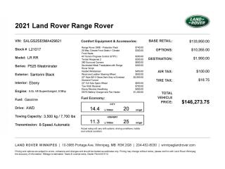 New 2021 Land Rover Range Rover for sale in Winnipeg, MB