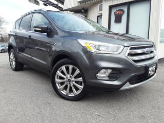 Used 2017 Ford Escape Titanium 4WD -LEATHER! NAV! BACK-UP CAM! BSM! PANO ROOF! for sale in Kitchener, ON