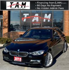 Used 2015 BMW 3 Series 328i xDrive NAVI Sunroof Bluetooth Leather Clean Carfax No Accident for sale in North York, ON