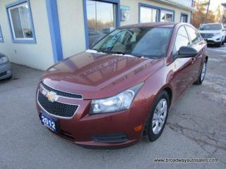 Used 2012 Chevrolet Cruze WELL EQUIPPED 2-LS EDITION 5 PASSENGER 1.8L - ECO-TEC.. CD/AUX INPUT.. KEYLESS ENTRY.. for sale in Bradford, ON