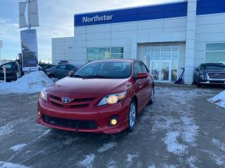 Used 2013 Toyota Corolla S/MANUAL/HETAEDSEATS/LEATHER/PANOROOF/NAV/BACKUPCAM for sale in Edmonton, AB