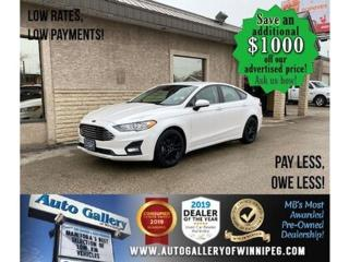 Used 2019 Ford Fusion SE* LOW KMS/Bluetooth/Reverse Camera/HEATED SEATS for sale in Winnipeg, MB