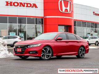 Used 2018 Honda Accord Sport--1 Owner--No Accidents--Backup Camera--Heated Seats--Lane Watch for sale in Milton, ON